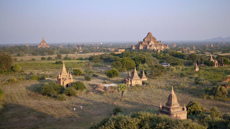Fields of temples in Bagan, Burma (Myanmar)