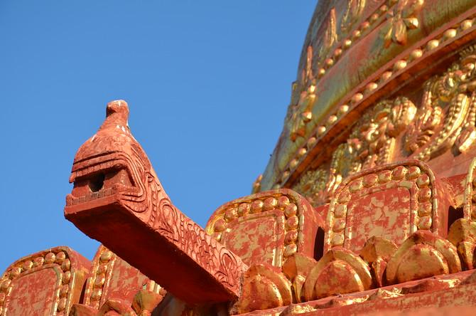 Water drain on Dhamma Ya Zi Ka Pagoda