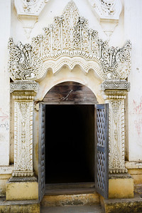An ornate entrance to the Hgnet Pyit Taung temple in Bagan, Burma (Myanmar)