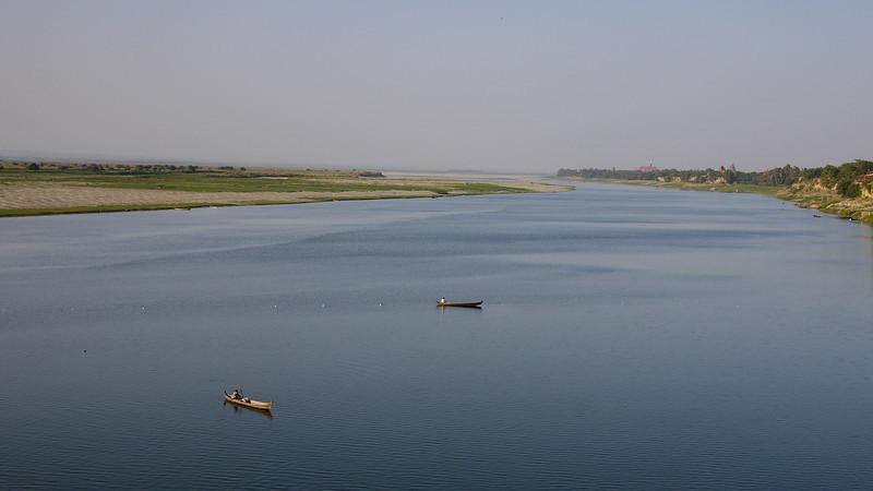 Irrawaddy River or Ayeyarwady River, in Bagan, Burma (Myanmar) from Bupaya.