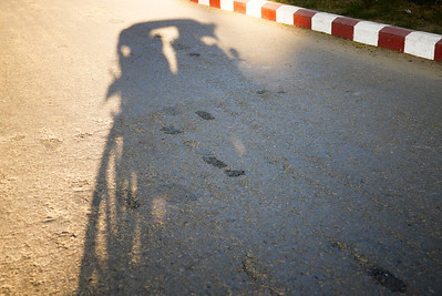 The shadow of our horse cart in Bagan, Burma (Myanmar)