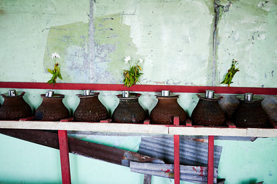 A watering station at the Popa Taungkalat Shrine in Bagan, Burma (Myanmar)