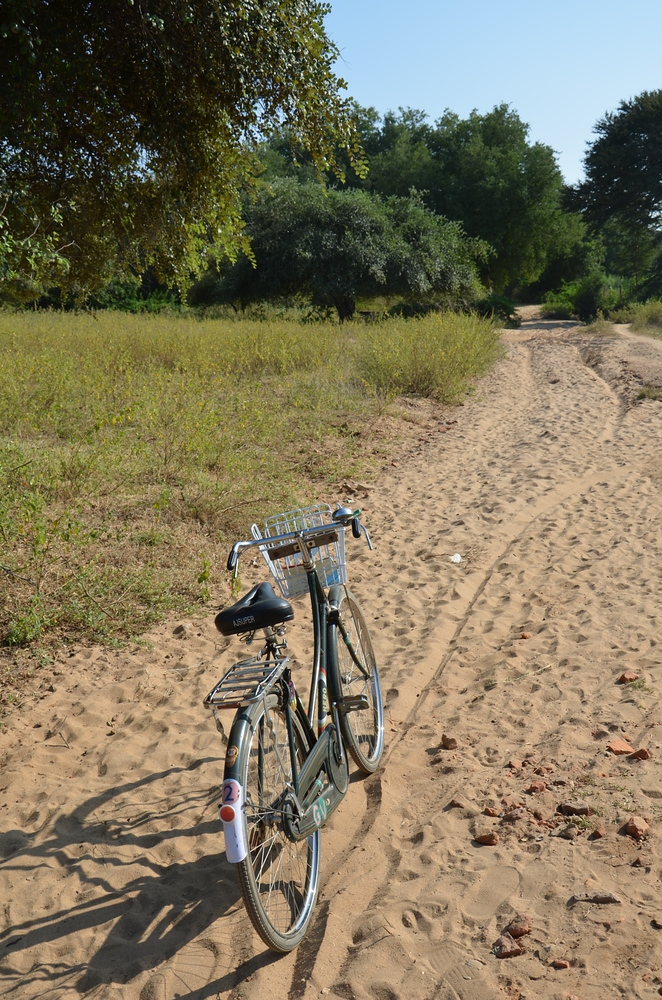 Sandy roads make for hard cycling