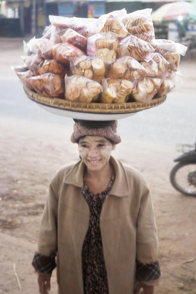 Smiling vendor in Bagan, Burma (Myanmar)
