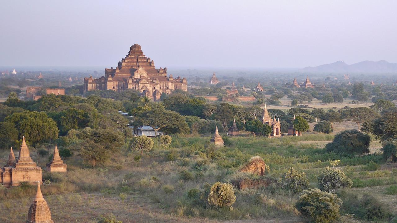 Sunset in Bagan, Burma (Myanmar) from Shwesandaw Pagoda