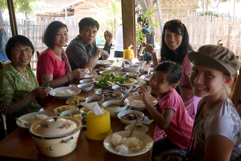 A group buffet lunch at the Golden