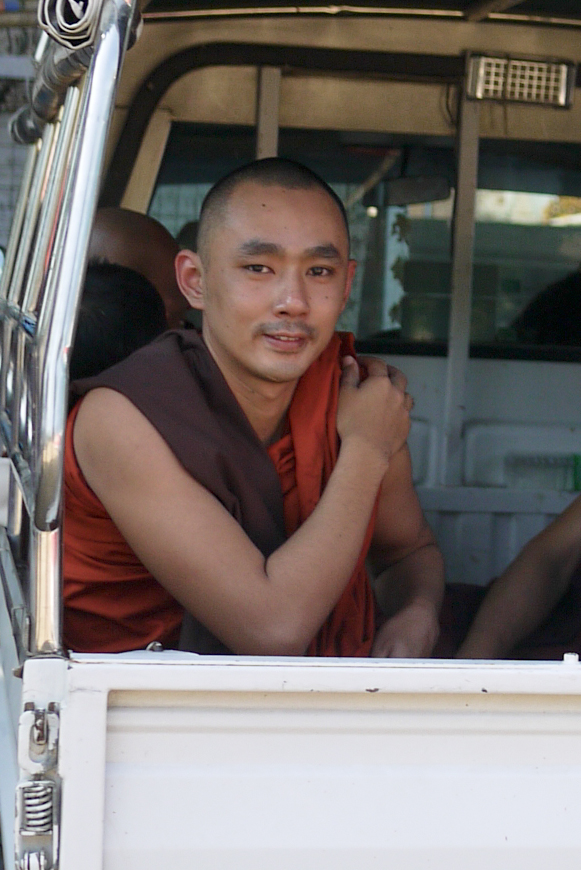 A monk in Bagan, Burma (Myanmar)