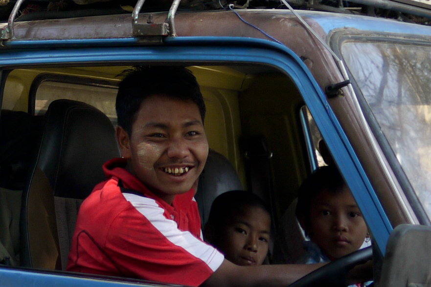 A friendly bus driver in Bagan, Burma (Myanmar)