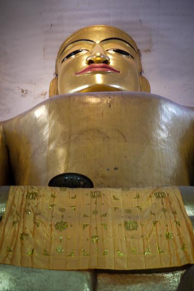 Manuha Buddha in Bagan, Burma (Myanmar)