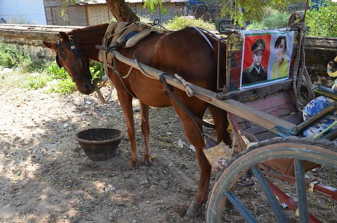 Horse and cart at Bagan