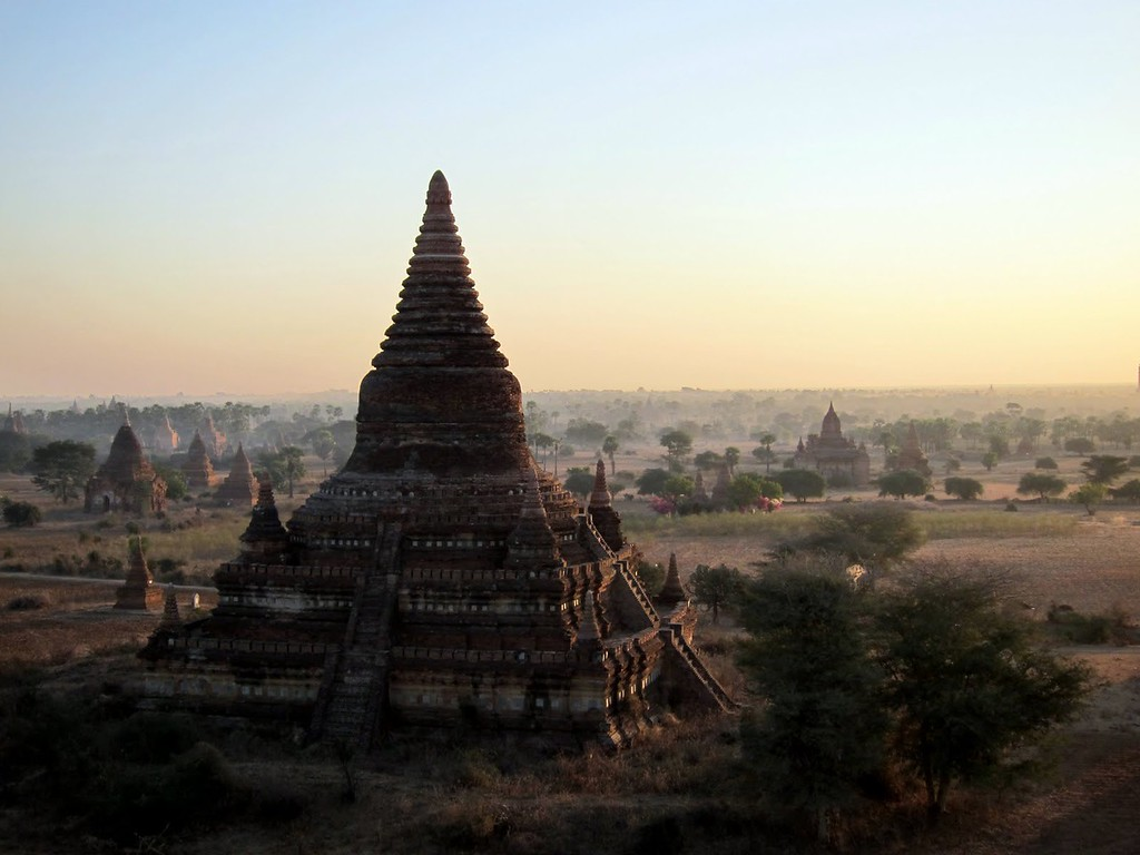 Temples of Bagan at dawn