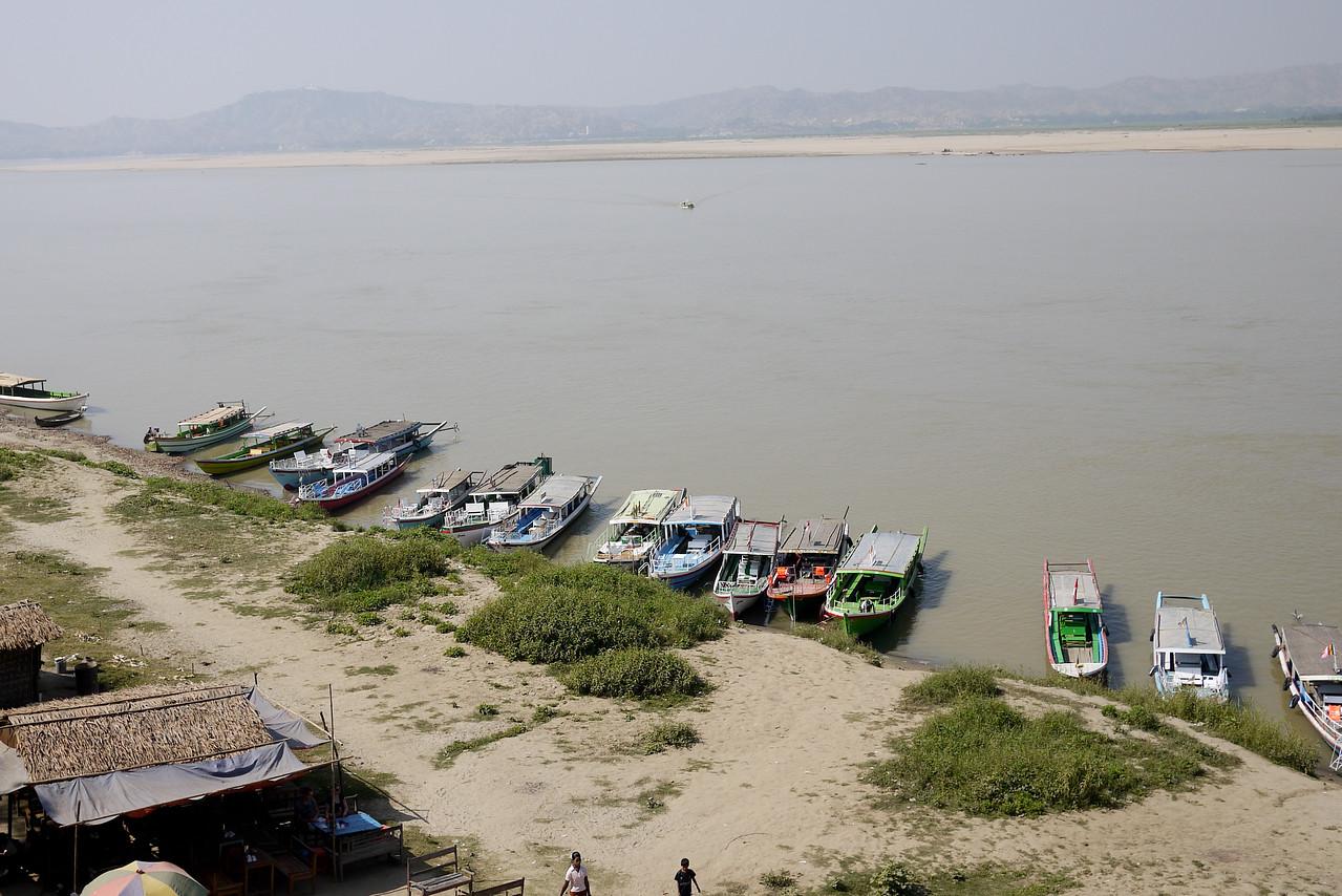 The Irrawaddy River from Bupaya in Bagan, Burma (Myanmar)