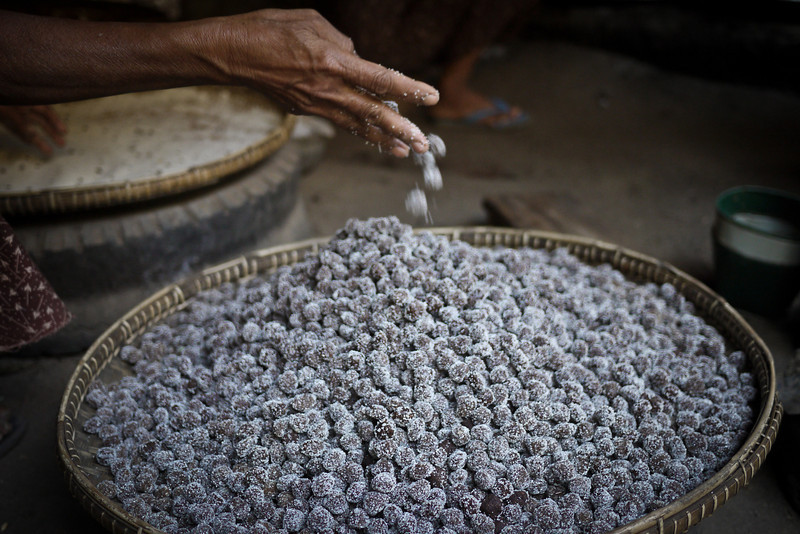 sour plum candies in Bagan, Myanmar