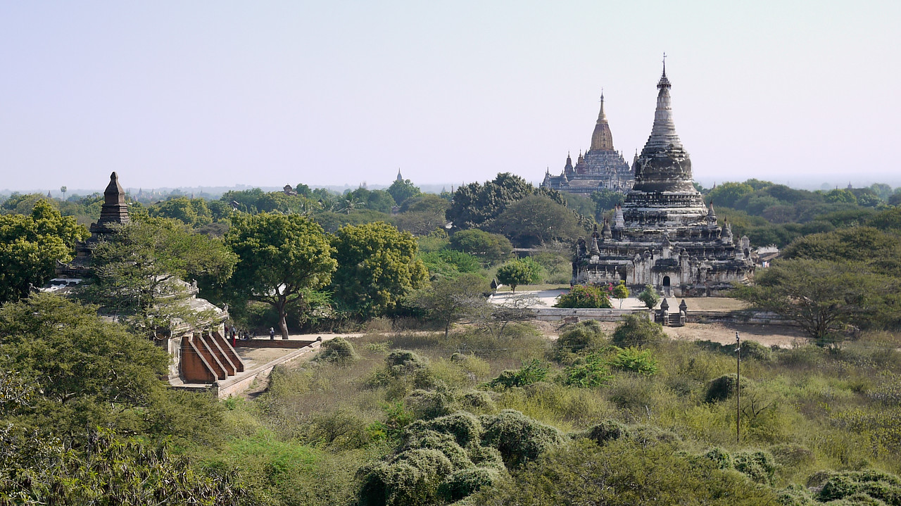 Temples and views from Shwegugyi in Bagan, Burma (Myanmar)