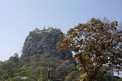 The Popa Taungkalat temple and monastery on the top of Mount Popa volcano, Bagan, Burma. in Bagan, Burma (Myanmar)