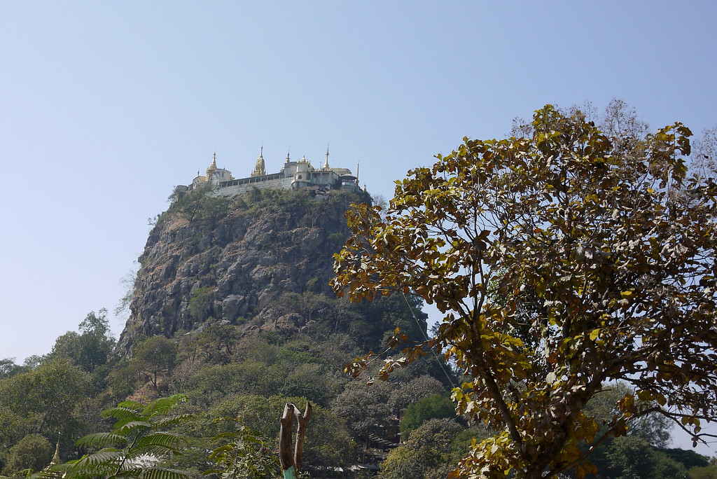 mount popa temple bagan burma