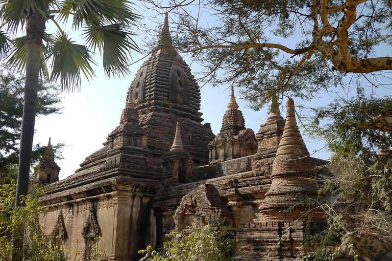 Pretty temples near Gubyaukgyi Myinkaba temple in Bagan, Burma (Myanmar)