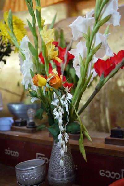 Offerings in Bagan, Burma (Myanmar)