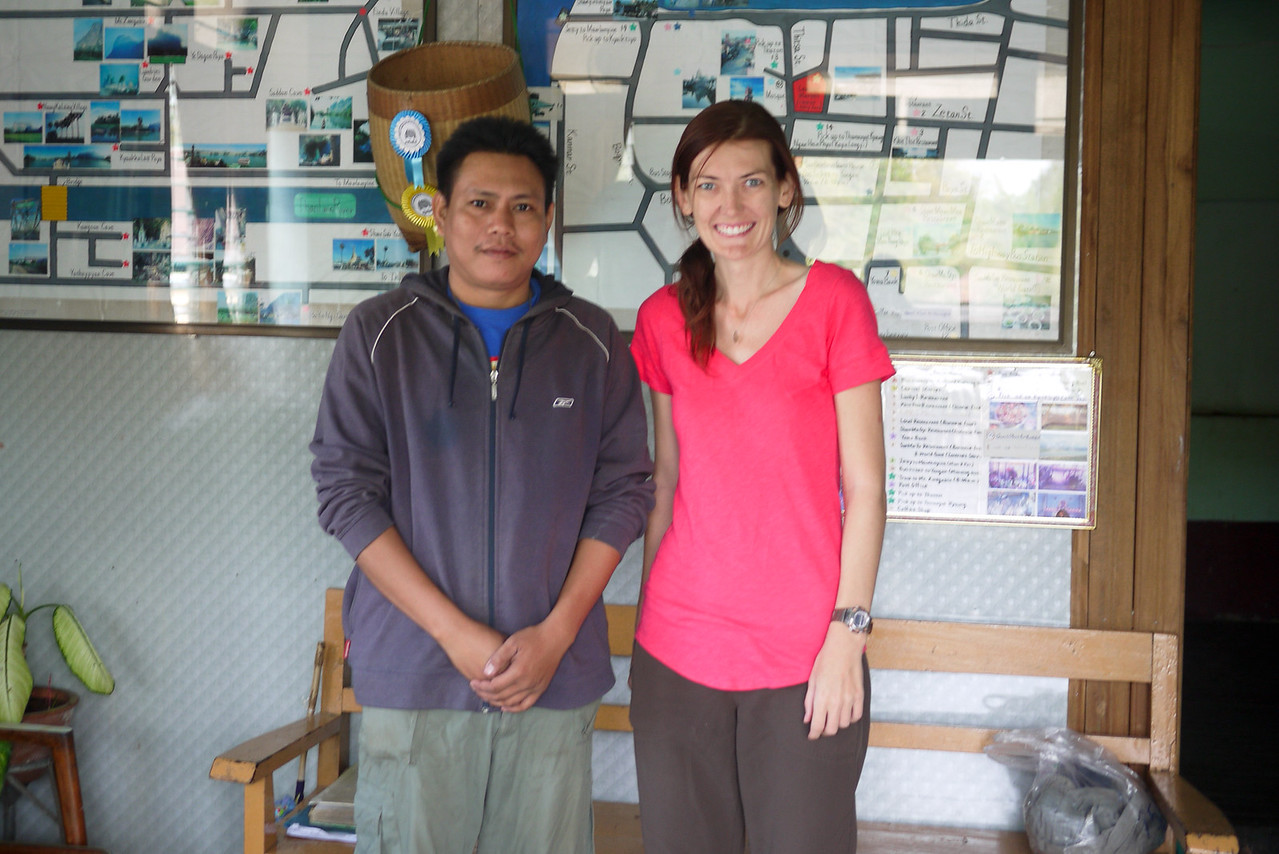 Me and one of the Soe Brothers at their guesthouse in Hpa-An, Burma.