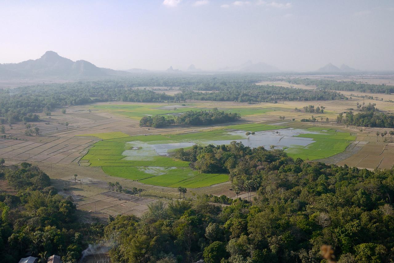 Looking toward Mount Zwegabin near Hpa-An, Burma.