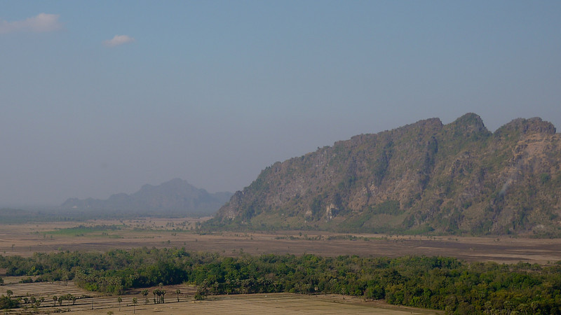 Arial view of the countryside around Hpa-An, Burma.