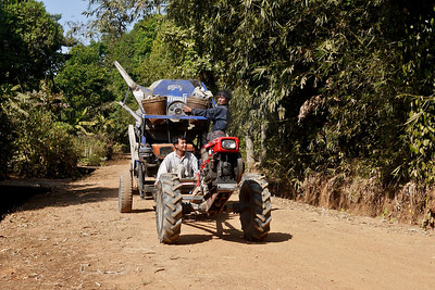 Interesting transportation in the countryside around Hpa-An, Burma.