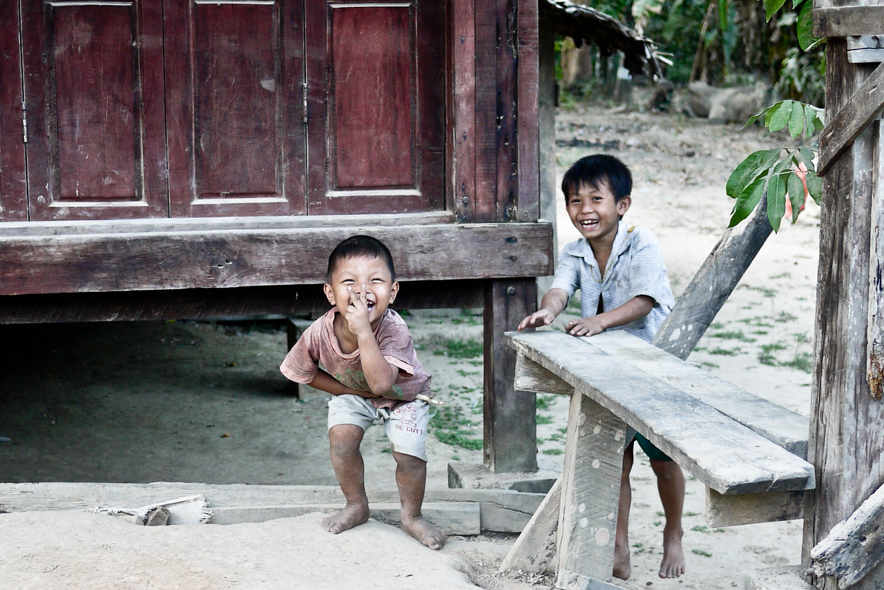 Great big smiles from the kids in the rural areas around Hpa-An, Burma.