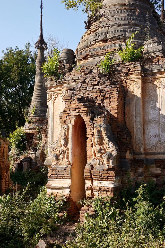 Shwe Inn Tain Pagoda on Inle Lake, Burma (Myanmar).