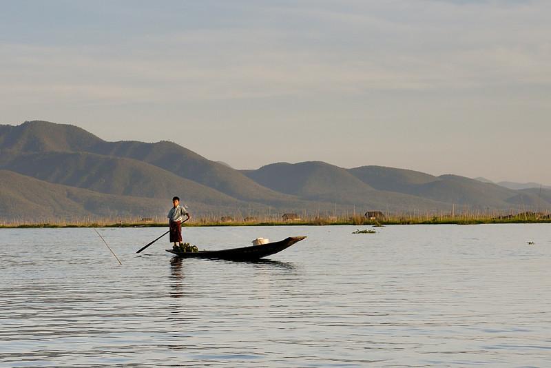 Fisherman on Inle Lake, Burma (Myanmar).