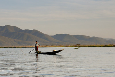 Fisherman on Inle Lake, Burma (Myanmar).