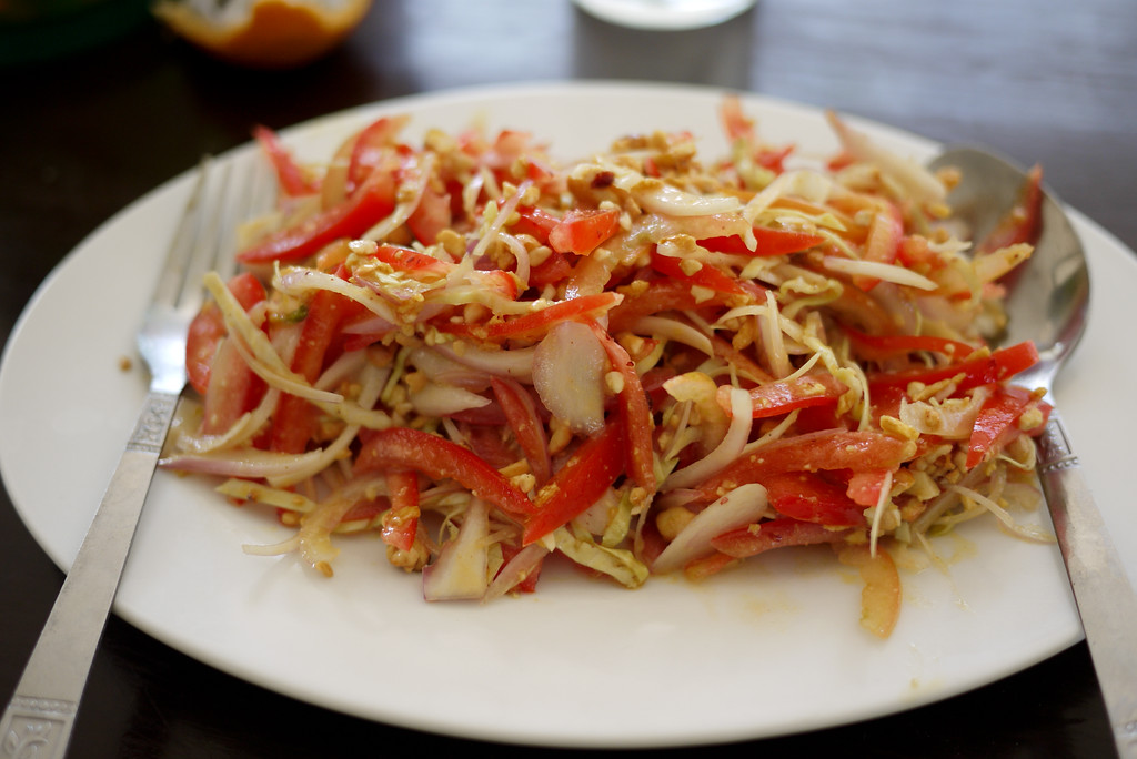 Tomato salad Inle Lake, Burma (Myanmar).