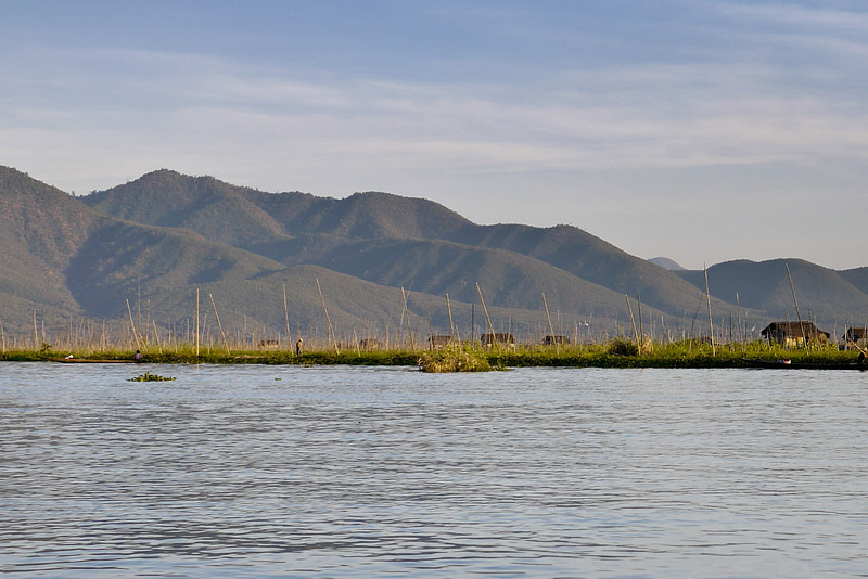 The pretty mountains surrounding Inle Lake, Burma (Myanmar).