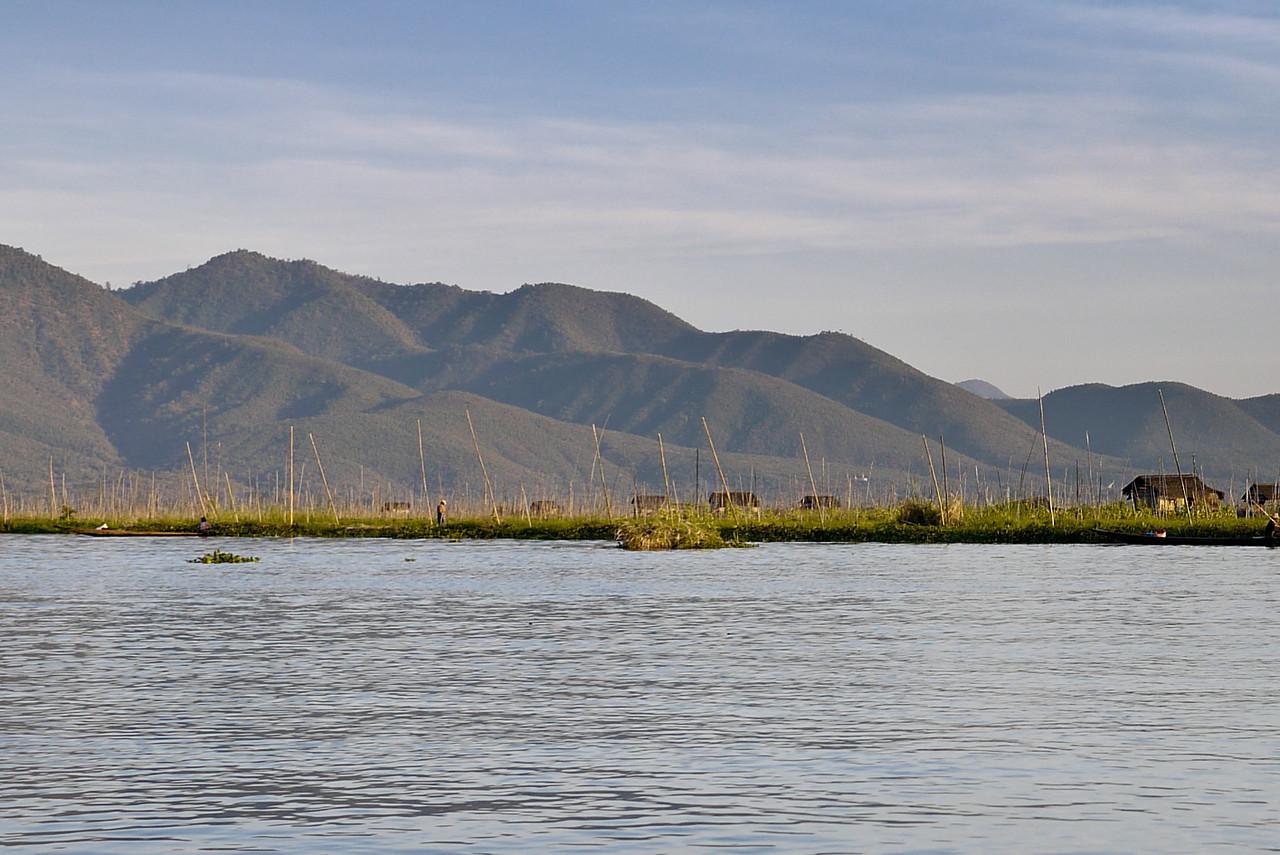 The pretty mountains surrounding Inle Lake, Burma (Myanmar).