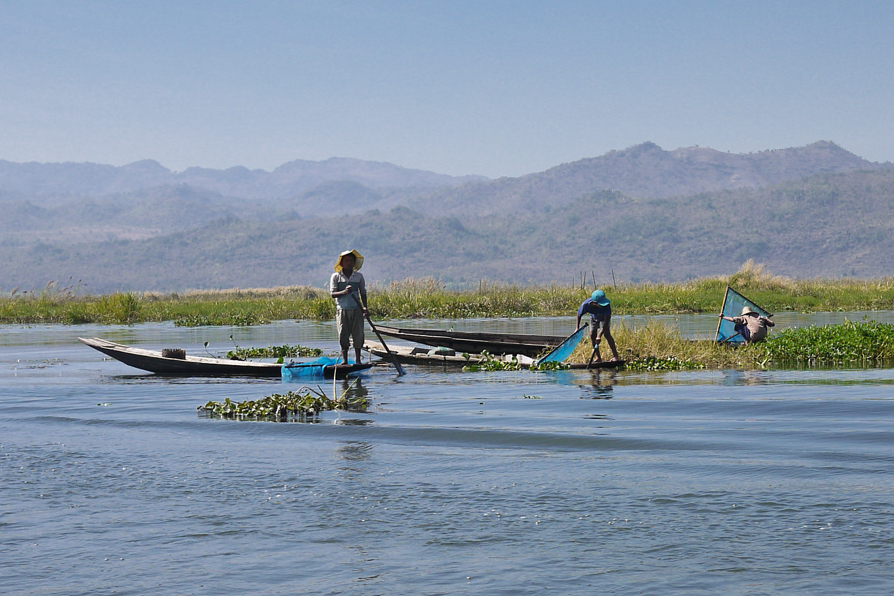 Fishermen on the Inle Lake, Burma (Myanmar).