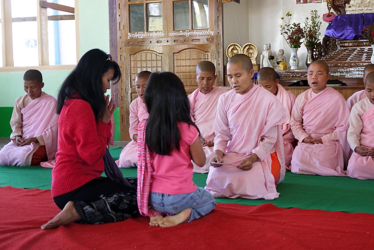 A women's monastery in Nyaung Shwe Inle Lake, Burma (Myanmar).
