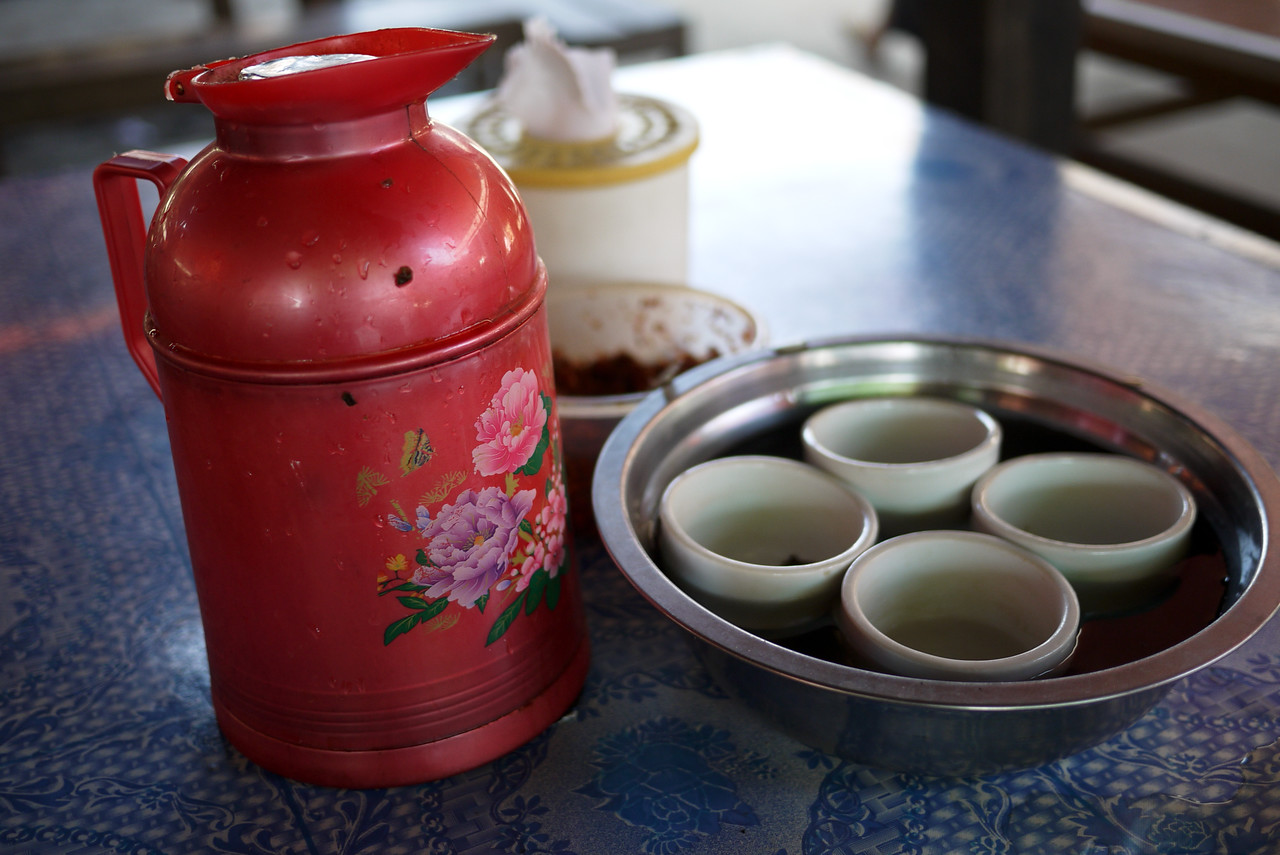 Chinese tea is free and on every table in Burma, this is from Inle Lake, Burma (Myanmar).