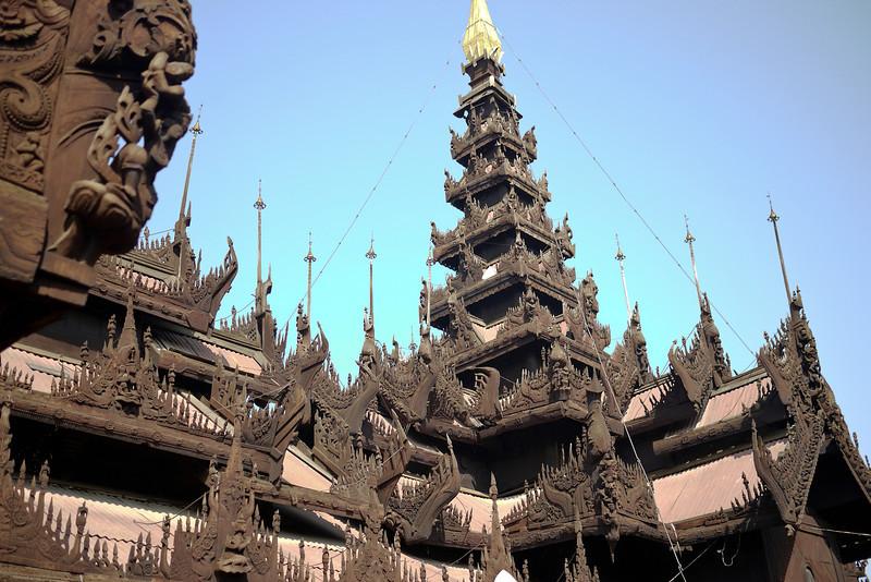 Shwenandaw Kyaung Temple in Mandalay.