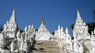 Mingun, an easy day trip from Mandalay.