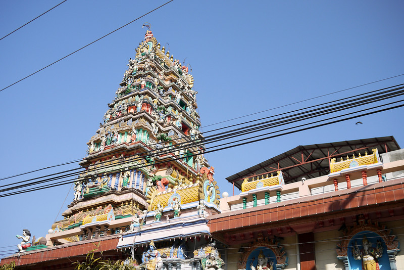 A colorful Hindu temple in Mandalay.
