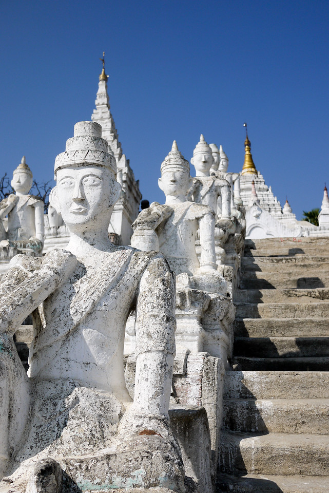 Temple on Mingun, just off the the Irrawaddy River near Mandalay.