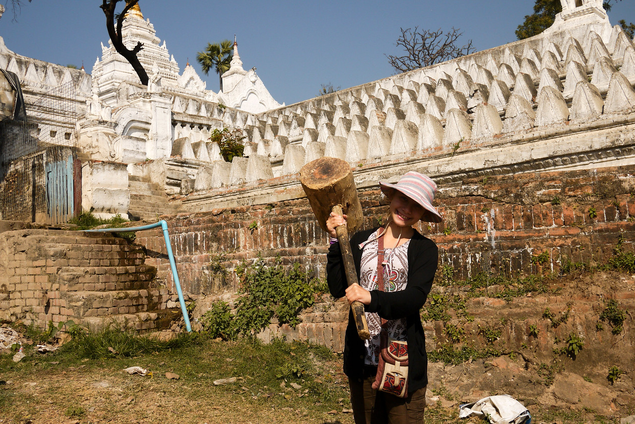 Fun as we explore Mingun, an easy day trip down the Irrawaddy River near Mandalay.