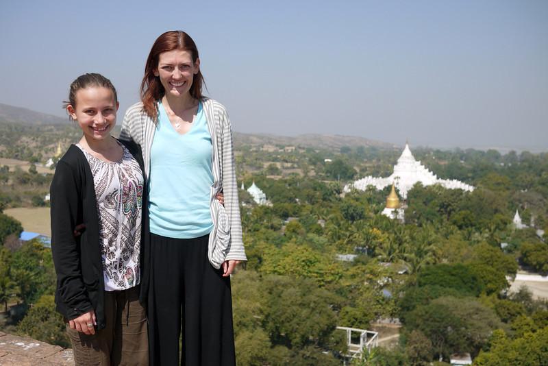 Overlooking Mingun from the crumbling ruins of Mingun Temple.