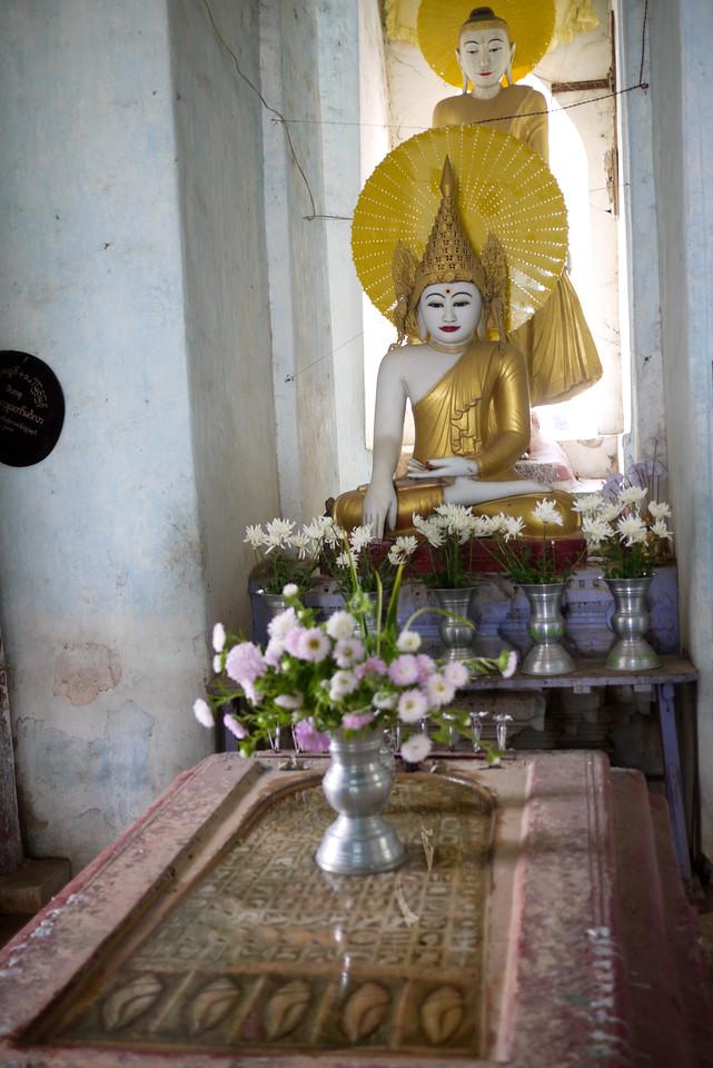 Buddha's footprint at Settanga Paya, near Mingun temple.