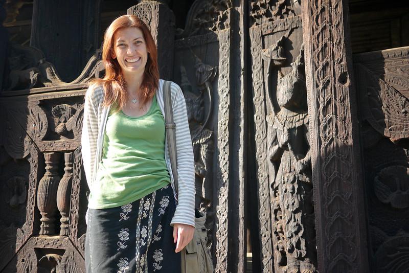Beautiful and lasting teak carvings at the Bagaya Kyaung Monastery on Innwa (Ava) near Mandalay.