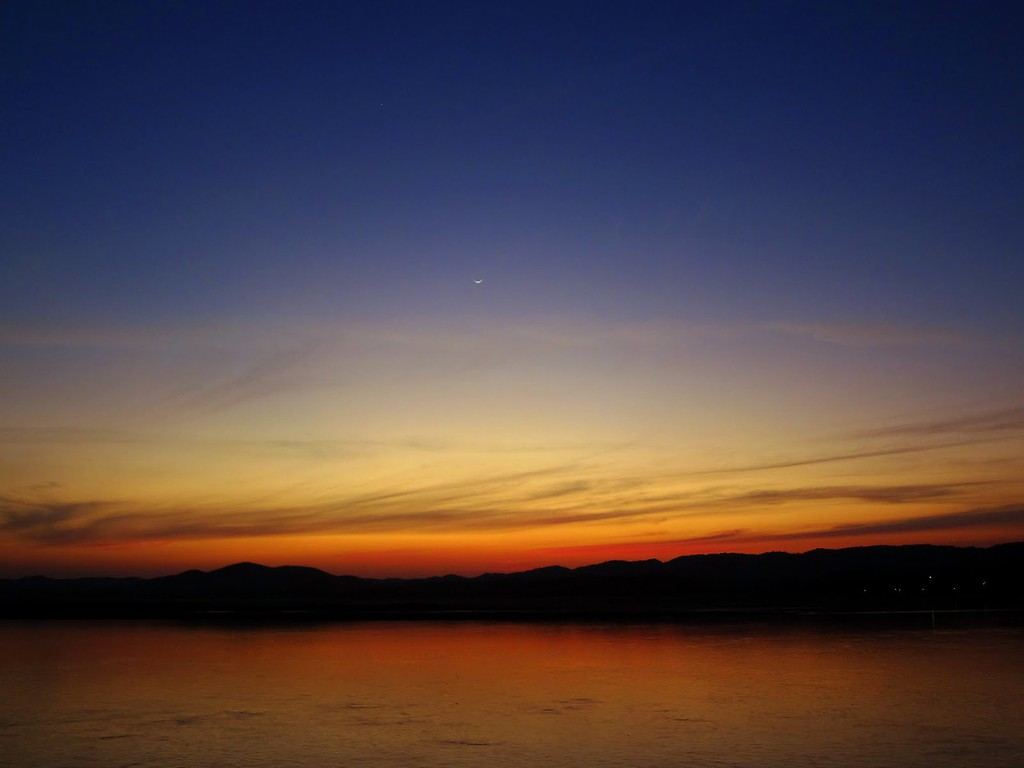 Dusk over the Irrawaddy