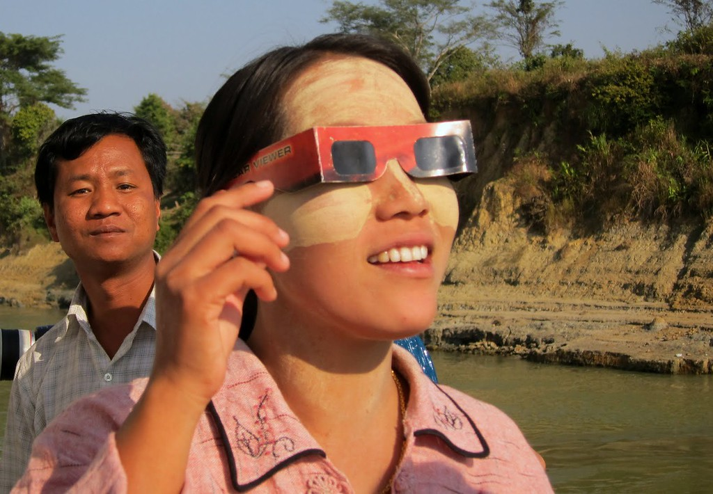solar eclipse glasses myanmar