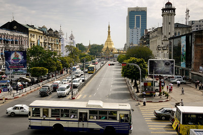 Sule Paya in Yangon, Burma (Myanmar)
