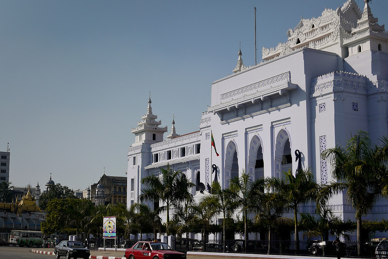 The city hall building in Yangon, Burma (Myanmar)