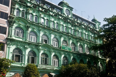 Beautiful colonial architecture in Yangon, Burma (Myanmar).