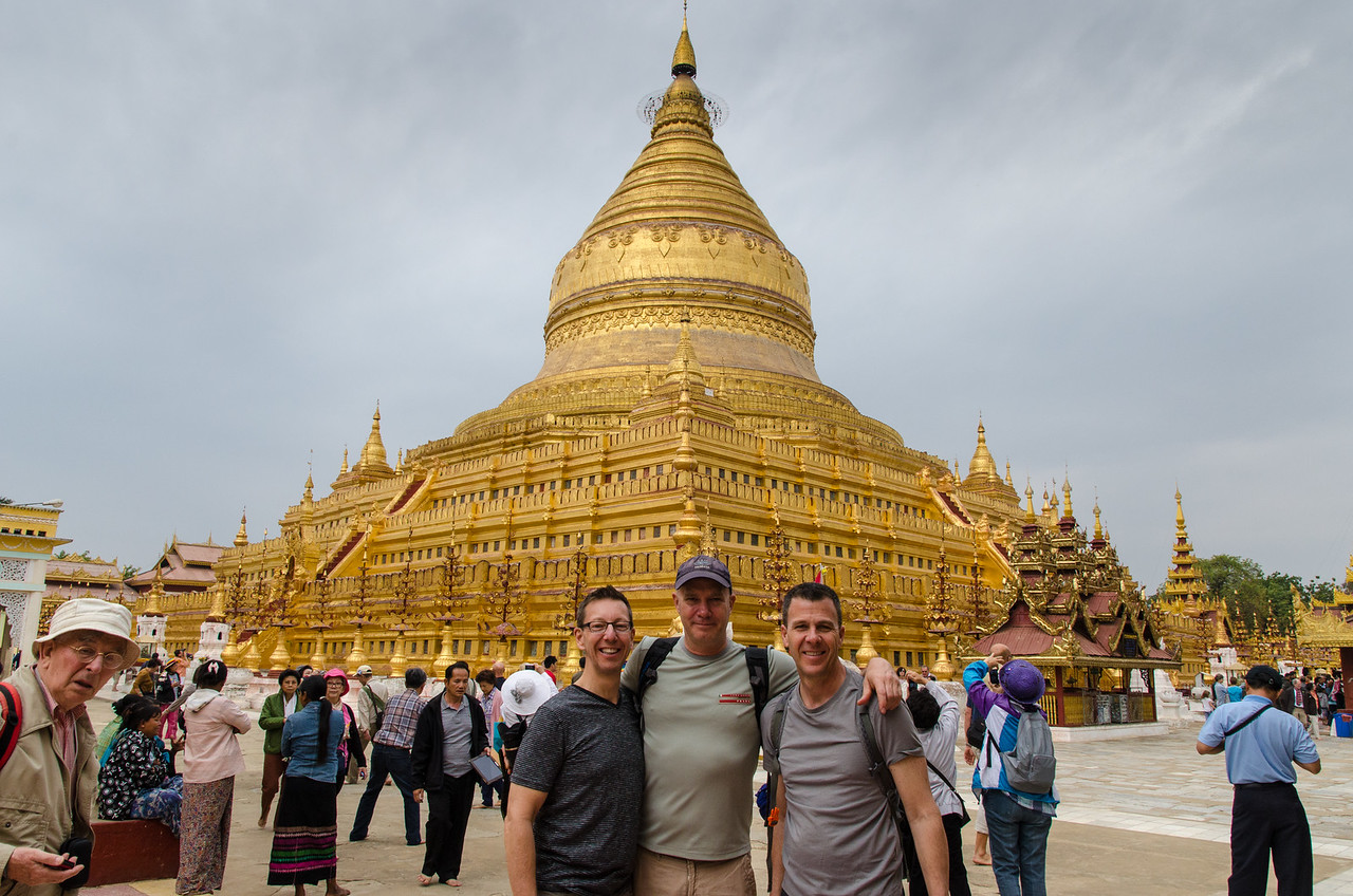 We continue our tour at Shwezigon Pagoda.